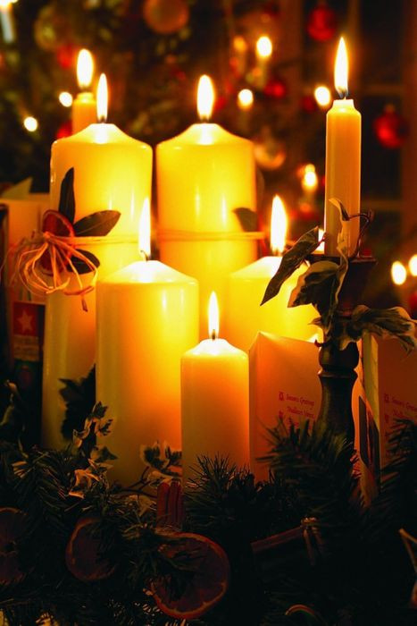 There is nothing more relaxing than a few candles lighting up a dark room!: