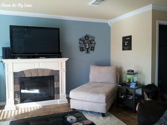 Living Rooms Accent Walls And Blue On Pinterest