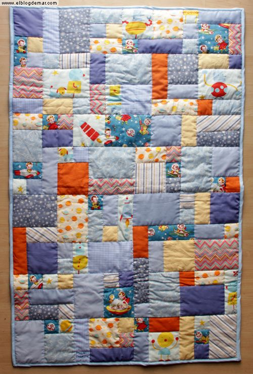Colcha patchwork bebe manta infantil pedro facil cuadrados - Colchas patchwork infantiles ...