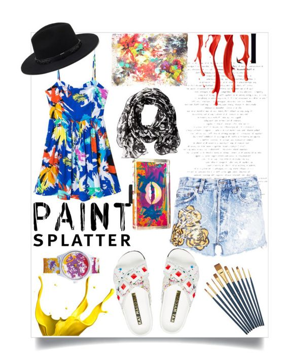 """""""paint in summer"""" by sassyluwarsie ❤ liked on Polyvore featuring Rialto Jean Project, Calvin Klein, Franco Ferrari, Kat Maconie, Forever 21, Stefanie Phan and paintsplatter"""