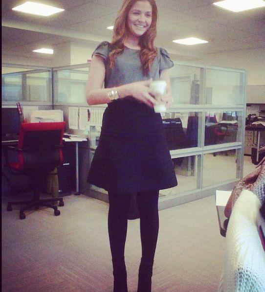 Black A Line Work Skirt