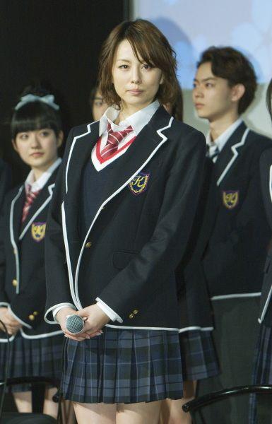 米倉涼子の制服姿