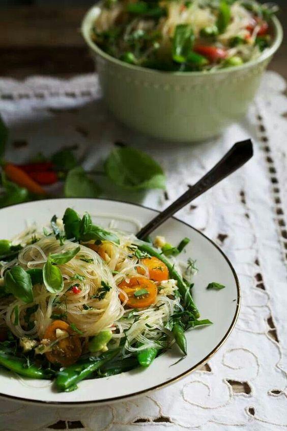Cellophane noodles w/ vegetables