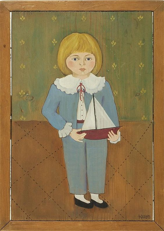 "KARRI MCCUE, American, Contemporary, ""Portrait of - by Eldred's"