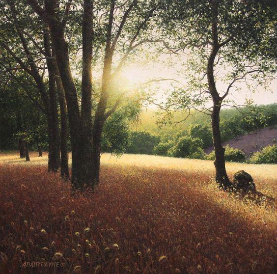 ADAIR PAYNE - Solstício de verão - Óleo sobre tela - 40,64 x 40,64