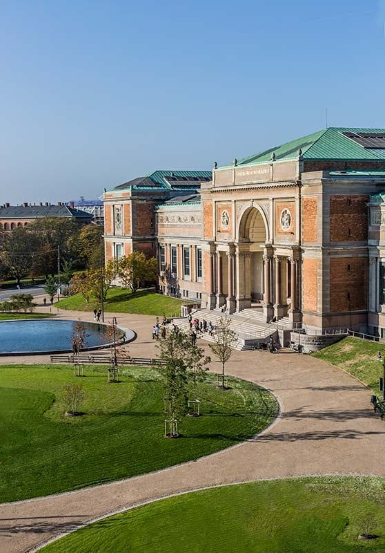 Copenhagen — National Gallery of Denmark. Beautiful building in the city center and permanent exhibits are always free