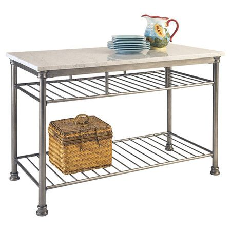 Found it at Wayfair - Orleans Kitchen Island with Marble Top http://www.wayfair.com/daily-sales/p/Multipurpose-Kitchen-Carts-%26-Islands-Orleans-Kitchen-Island-with-Marble-Top~HO2558~E15766.html?refid=SBP.rBAZEVJHgD1zgjT-BvaQAt9nnq6XfkMIiUh_4Itob18