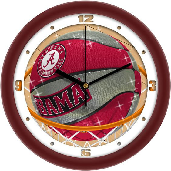Alabama Crimson Tide Slam Dunk Wall Clock