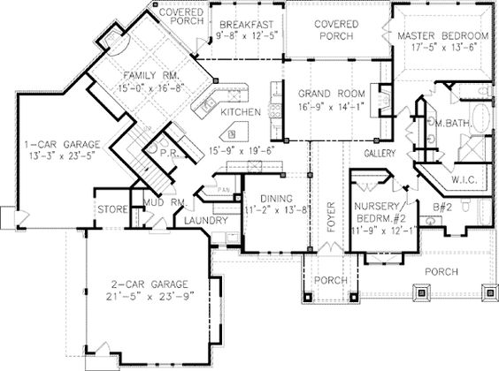 Plan 15605ge dramatic through house views master suite bedroom master suite and covered porches Master bedroom main floor house plans