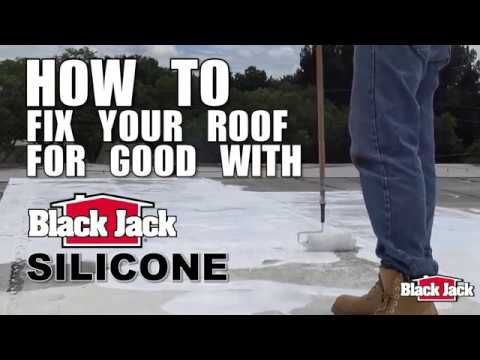 How To Apply Silicone Roof Coatings Using Black Jack Silicone Youtube Roof Coatings Roof Problems Cool Roof