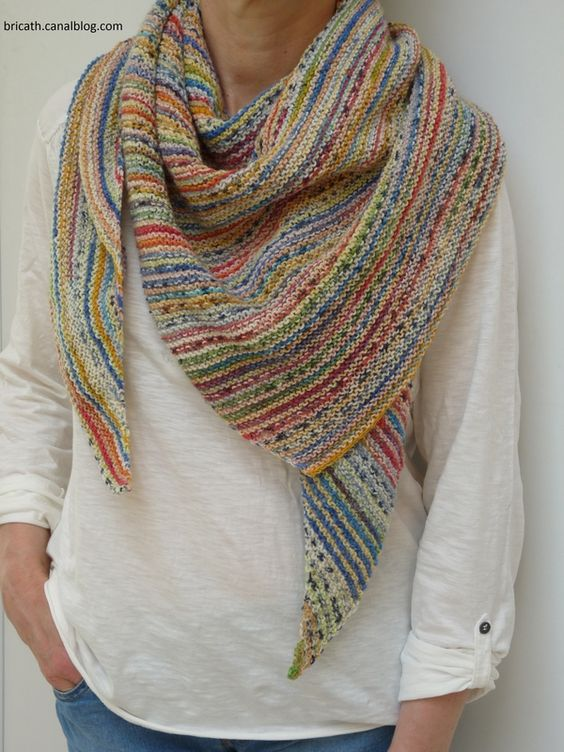 Knitted Scarf Patterns Using Sock Yarn : Pinterest   The world s catalog of ideas