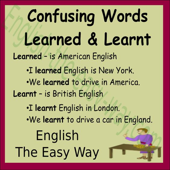 I never ________ to drive. 1. learned  2. learnt 3. both  #ConfusingWords