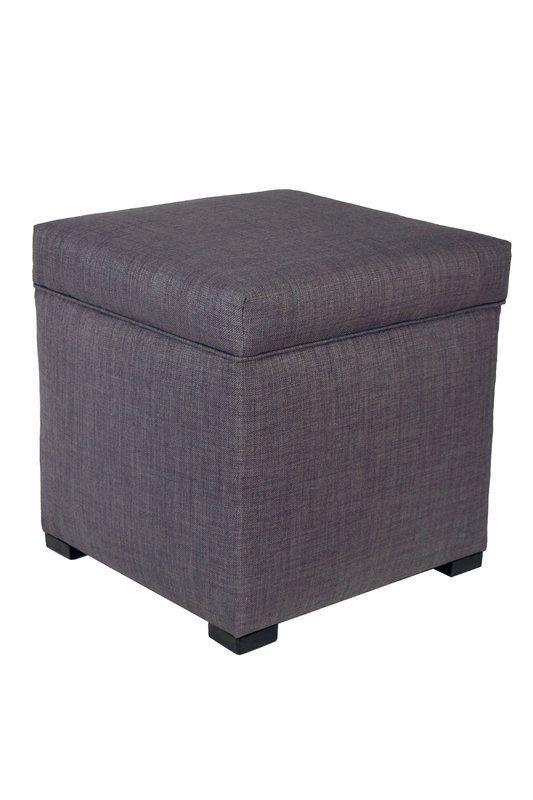 Cube Storage Ottoman In Dark Brown Set Of 2 Ottoman Furniture