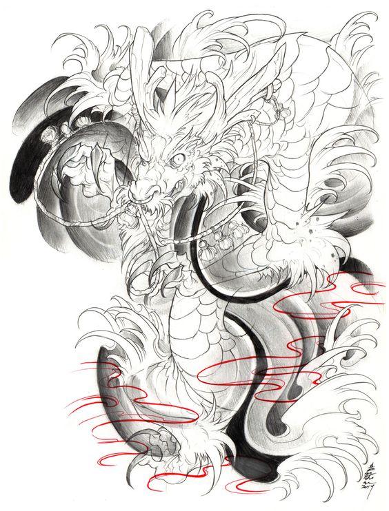 irezumi dragon 003 001 by on deviantart sketchbook tattoo pinterest. Black Bedroom Furniture Sets. Home Design Ideas