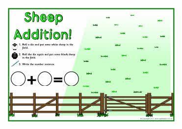 sheep math mats