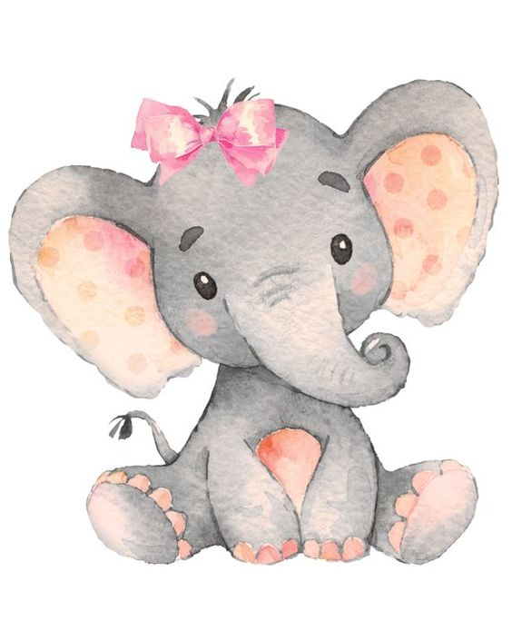 Baby Girl Elephant Nursery Print Jpeg 8 By 10 Digital File