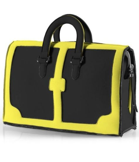Structured work bag with a pop of colour. Yums.