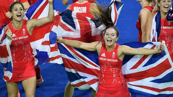 """Great Britain's women hockey team have won their first Olympic gold after beating the Netherlands in a penalty shootout.  The final finished 3-3 in normal time after the British keeper, Maddie Hinch, 27, nicknamed """"Mad Dog"""", pulled off a series of remarkable saves.  The Dutch could not get past her in the shootout either, which finished 2-0"""