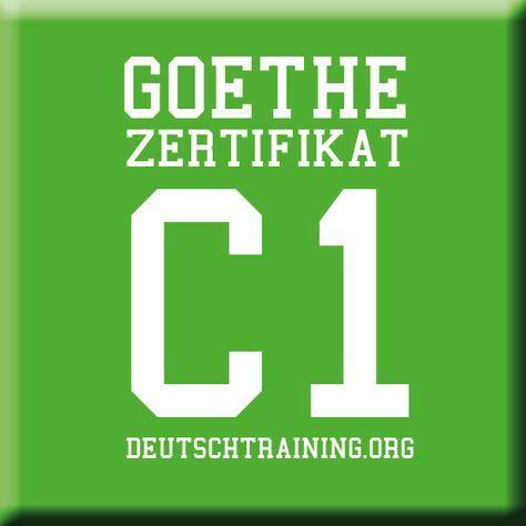 Goethe Zertifikat C1 In 2020