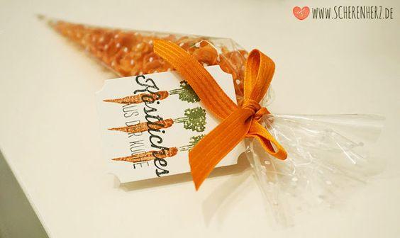 Karotten Chips - ein Geschenk aus der Küche - passend verpackt