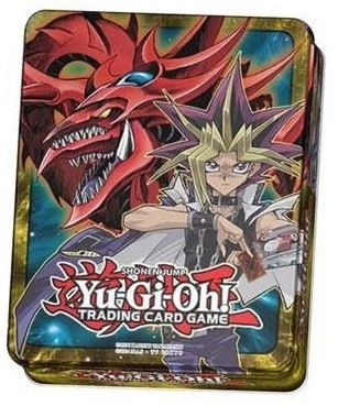 YuGiOh Yugi & Slifer 2016 Mega-Tin Collector. Paving the way for next year's Yu-Gi-Oh! The Dark Side of Dimensions feature film, this year's 2016 Mega-Tins put the original Duelists, Yugi and Kaiba, front and center alongside their legendary Egyptian God Cards. Slifer the Sky Dragon (Yugi's Egyptian God Card) and Obelisk the Tormentor (Kaiba's Egyptian God Card) have been two of the most popular monsters since their debut in season 2 of the original animated series. Now they're...