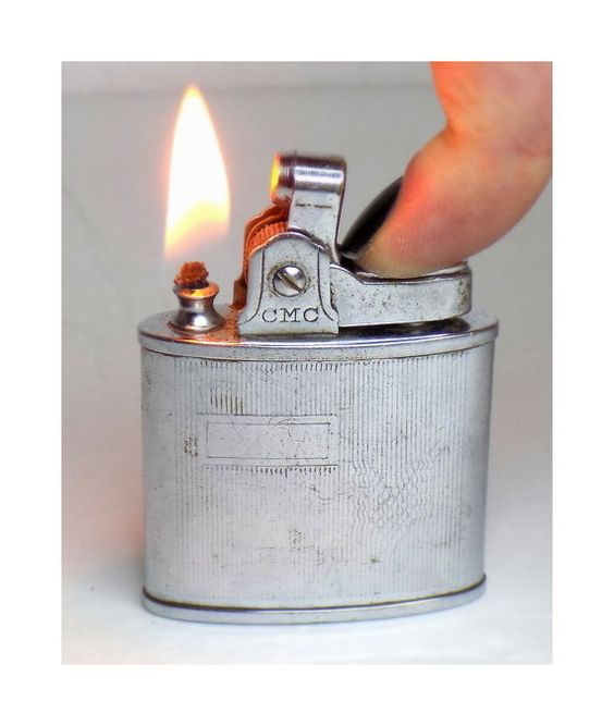 1950s Pocket Lighter Working Continental CMC by VintageTobacciana