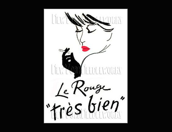French Cross Stitch La Rouge Silhouette by NewYorkNeedleworks, $8.00