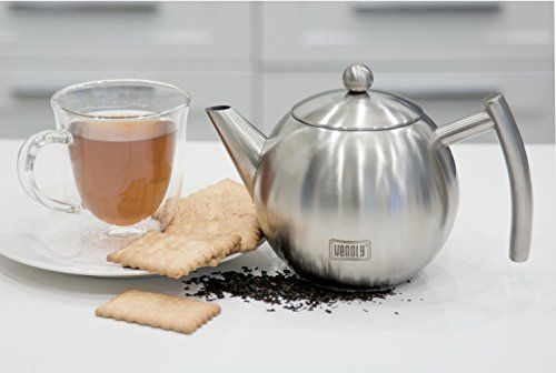 Venoly Stainless Steel Tea Pot With Removable Infuser For Loose