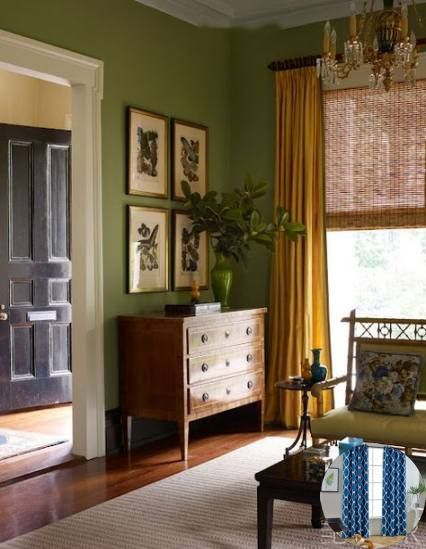 Curtain Color For Olive Green Walls And Curtain Color Reddit Simple Ideas For Rustic Decor Living Room Green Green Walls Living Room Trendy Living Rooms