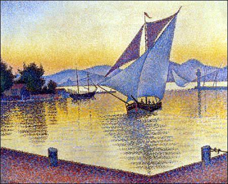 Le Port au coucher du Soleil Saint Tropez