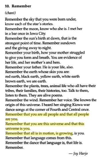 essay on the poem remember by joy harjo