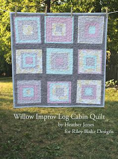 Riley Blake Designs Blog: Project Design Team Wednesday~Willow Improv Log Cabin Quilt