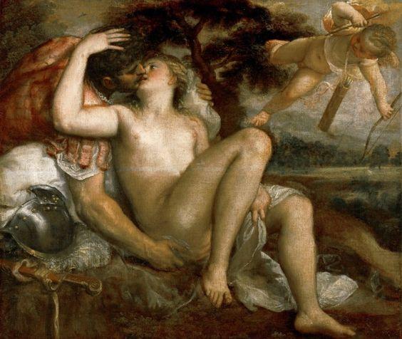 Mars, Venus and Amor, Tiziano