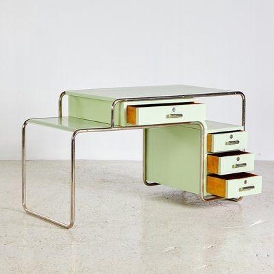 Ensemble De Meubles Style Bauhaus Vert De Ideal Tubular Furniture Factory 1930s En 2020 Interieur Bauhaus Deco Interieur Design Mobilier De Salon