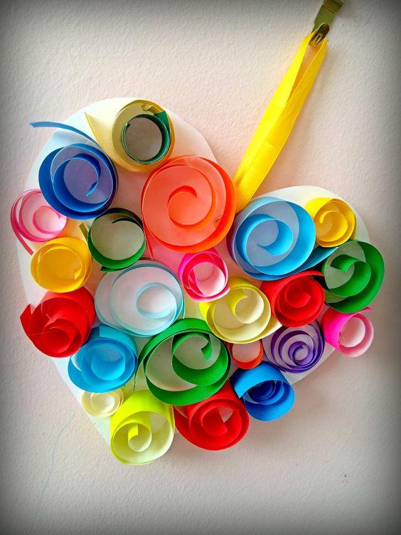 papír szív (paper heart) Anyák Napja (Mother's Day)