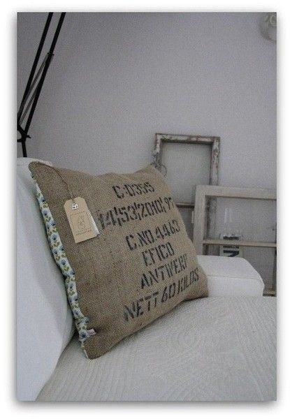 vintage kissen kaffeesack shabby chic kaffees cke. Black Bedroom Furniture Sets. Home Design Ideas