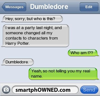 I'm not even a Harry Potter fan, but this is hilarious.