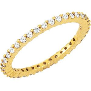 14kt Yellow 1/2 CTW Diamond Eternity Band Size 5
