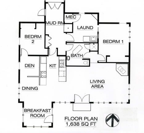 Passive Solar House Plans on Passive Solar Ranch Floor Plan 1600