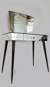 coiffeuse miroir triptyque vintage annees 60 70 venitien