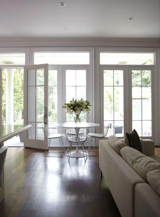 Suzie: HGTV - Wall of French doors & transom windows, Marble ...