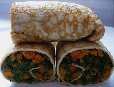 wrap w/ sweet potatoes, kale, and pepper | Recipes | Pinterest | Sweet ...