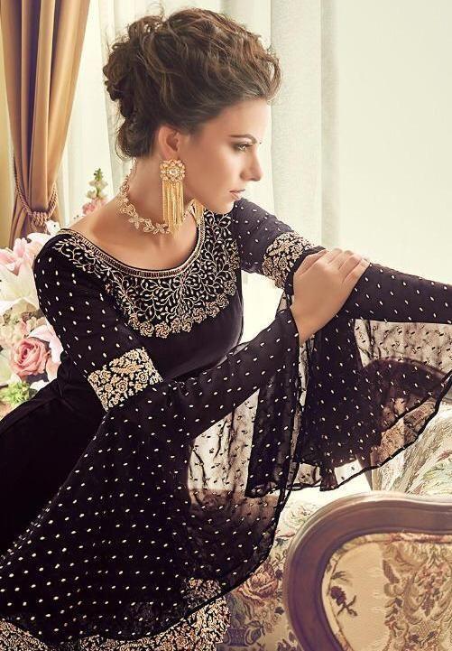 Siya Fashion Designer Wine Faux Georgette Palazzo Suit In 2020 Designer Dresses Short Designer Dresses Elegant Indian Wedding Dress Designers