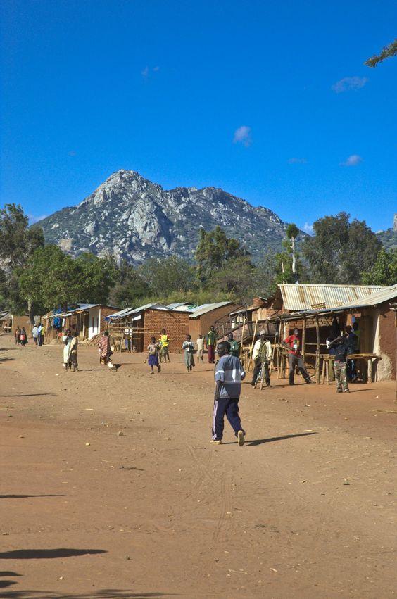 Downtown Ilambilole, Tanzania.  ©2009 Randy Haglund