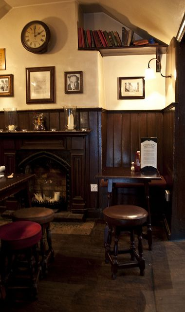 The Eagle and Child Pub, Oxford. I sat at that table with the menu on it!!: