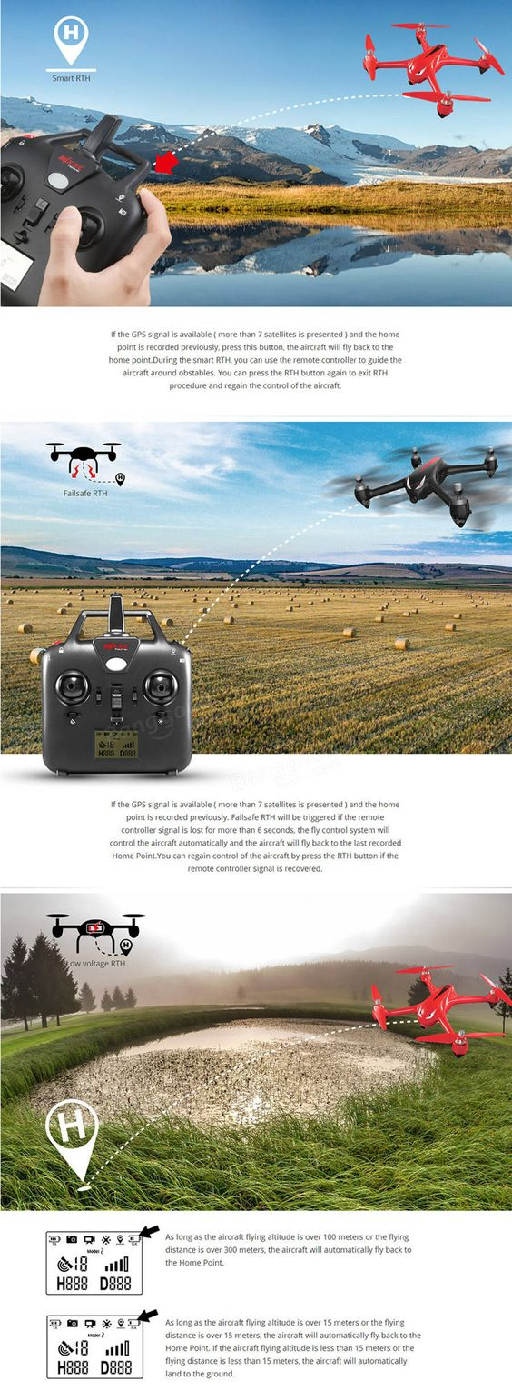 MJX B2W Bugs 2W WiFi FPV Brushless With 1080P HD Camera GPS RC Drone Quadcopter RTF