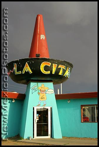 The last remaining sombrero restaurant on old Route 66. Route 66 destinations. Road trip USA.