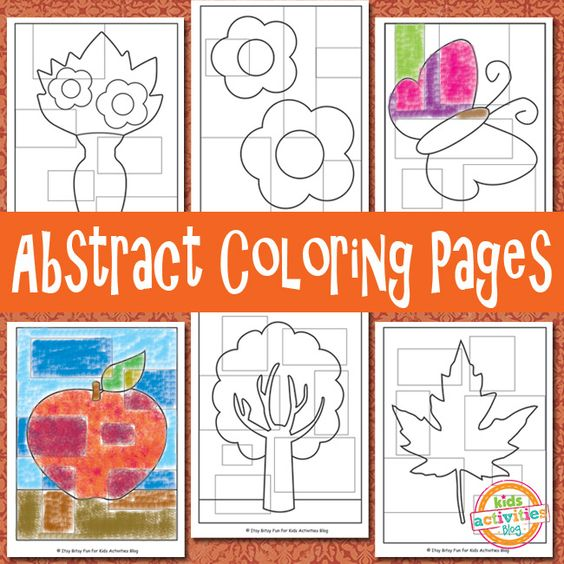 Abstract Coloring Pages {Free Kids Printable}   Colorante ...