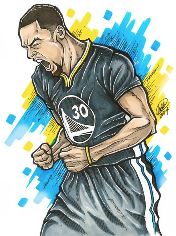 Stephen Curry 'Pure Passion' Illustration Basketball Art