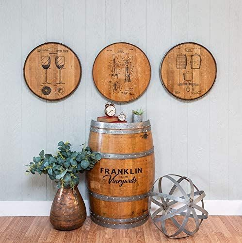 Rustic Home Decor Personalized Whiskey Barrel Lid Custom Drinking Bar Sign